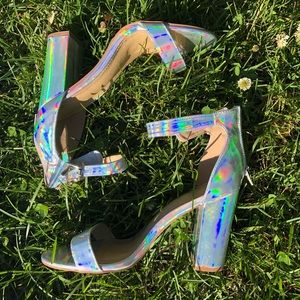 Charlotte Russe holographic heels